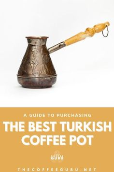 Turkish coffee is a unfiltered coffee that brewed using finely ground coffee beans, and most importantly brewed with a Turkish Coffee Pot! #turkishcoffee #coffeegear #turkishcoffeepot #ibrikcoffee #bestturkishcoffeepot Coffee Thermos, Coffee Drinks, Coffee Brewing Methods, Coffee Container, Ground Coffee Beans, Coffee Today, Coffee Facts, Best Coffee Maker, Coffee Accessories