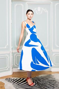 Alice + Olivia Spring 2015 Ready-to-Wear - a direct matisse reference!