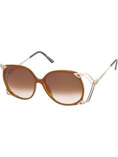 CHRISTIAN DIOR VINTAGE Oversized round tinted sunglasses l3U2zYzw2f