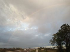 Saw this great rainbow while running this morning.