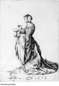 Urs Graf Young woman in profile with lantern 1513 | Flickr - Photo Sharing!