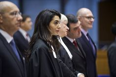 Attorney Amal Clooney (L) criticized Turkey's track record on violations of freedom of expression, calling it 'disgraceful.'