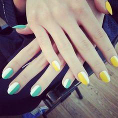fleuryrosenails: #BTS matte nails with jockey stripes #nailart.