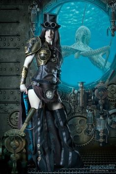 Steampunk.  Interesting use of armour on a woman