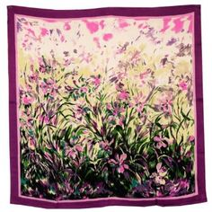 Discount 100% Luxurious Charmeuse Silk Laurent Monteil's Irises Painting Hand Rolled Edges Square Scarf Shawl Great deals every day - http://bestcomparemarket.com/discount-100-luxurious-charmeuse-silk-laurent-monteils-irises-painting-hand-rolled-edges-square-scarf-shawl-great-deals-every-day