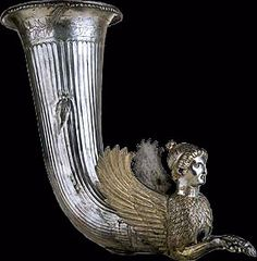 a rhyton, vessel only used during special rituals or wine-drinking feasts.
