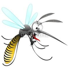 Funny Scaring #Cartoon #Mosquito! © Bluedarkat