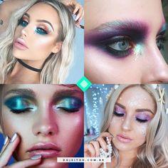 Dicas de maquiagem de sereia para dar um up no seu look de carnaval Makeup Inspo, Makeup Art, Make Carnaval, Pale Skin Makeup, Alternative Makeup, Mermaid Makeup, Makeup Designs, Fantasy Makeup, Creative Makeup