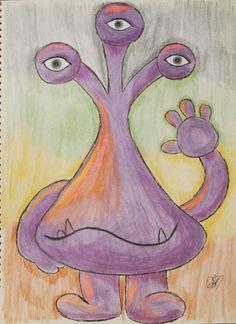 Extraterrestre, dibujo