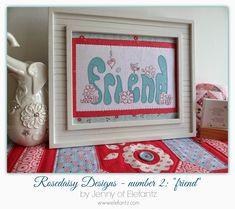 Jenny of ELEFANTZ: Stitchery framing tutorial & 2nd Rosedaisy project...