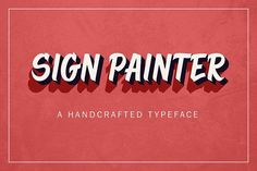 Introducing Sign Painter, a handcrafted typeface inspired by signage and sign painting. Sign Painter comes with capital and lowercase characters, Writing Fonts, Sign Writing, Business Brochure, Business Card Logo, Tattoo Signs, Beautiful Fonts, Pretty Fonts, Script Type, Creative Sketches