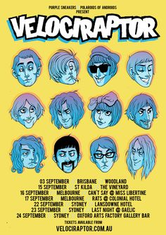 Gig Posters : (these really remind me of Hanna Barbera. In a good way.)
