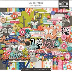 Lil' Critter is an adorable collection perfect to document the antics of your little busybody.