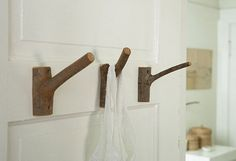 DIY hangers for towels, clothes or something