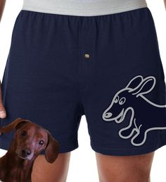 Wraparound Wahoo Wiener Boxer Shorts by whatsupdox on Etsy, $18.95