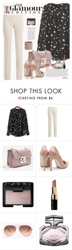 """""""Romwe"""" by manuela-cdl ❤ liked on Polyvore featuring Ryan Roche, Rupert Sanderson, NARS Cosmetics, Bobbi Brown Cosmetics, Gucci and Valentino"""