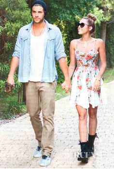 SPOTTED: Miley Cyrus in #MinkPink  'Four Seasons' panelled dress for her engagement announcement
