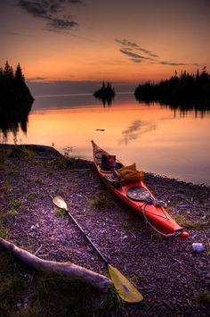 Click if You'd Love to Paddle Here! www.TheRiverRuns.info #kayaking #river #sunset