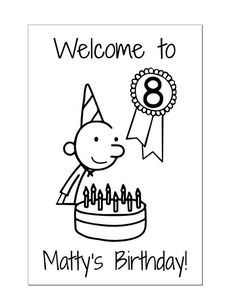 Diary of a Wimpy Kid Birthday Poster Kids Birthday Cards, Great Birthday Gifts, Birthday Party Themes, Boy Birthday, Wimpy Kid Books, Jeff Kinney, Parties, Party Ideas, Potlucks