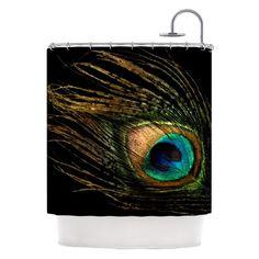 Kess Inhouse Peacock Feather Shower Curtains - AC1013ASC01