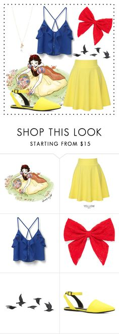"""Snow White"" by minparks ❤ liked on Polyvore featuring QNIGIRLS, MANGO, Carole, Jayson Home, ALDO, Simons, disney and disneybound"