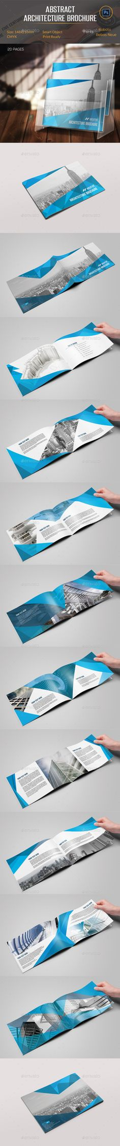 Abstract Architecture Brochure — Photoshop PSD #building #advertising • Available here → https://graphicriver.net/item/abstract-architecture-brochure/11175213?ref=pxcr