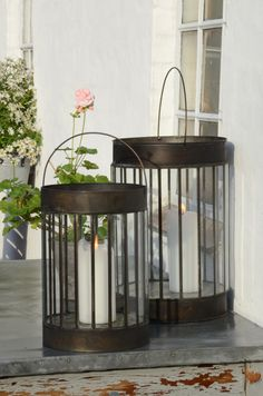 Windlichter Bamboo / Glas von IB Laursen