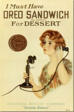 Oreo ad, 1919.  Wow ... they ARE old.