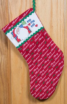 Hey, I found this really awesome Etsy listing at https://www.etsy.com/listing/239364171/ho-ho-ho-santa-merry-christmas-stocking