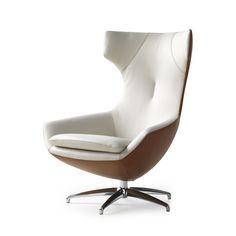 Draaifauteuil Caruzzo Leolux, in stof vanaf € 2420,- De fauteuil Caruzzo Leolux heeft een draaimechaniek gecombineerd met een traploos vergrendelbaar mechaniek voor de verstelling van de rugleuning. Afmetingen fauteuil: 78br...