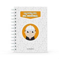 Cuaderno - Las notas del ingeniero industrial, encuentra este producto en nuestra tienda online y personalízalo con un nombre. Office Supplies, Notebook, Notebooks, Report Cards, Store, The Notebook, Exercise Book