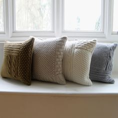 These knitted cushion covers in neutrals are instant classics.