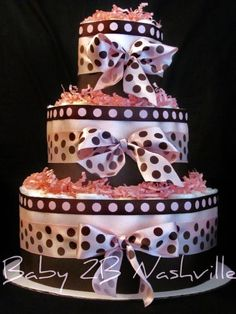 Diaper Cake Diaper Cakes Pinterest Pink Brown And Cakes