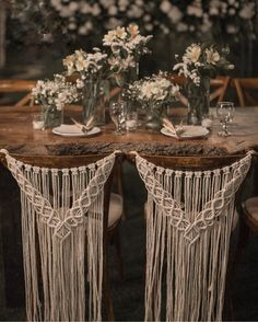 Macrame wedding chair cover, macrame wall hanging, boho wedding decor Macrame chair back for weddings, ceremonies, and events. This beautiful macrame chair back is perfect for the back of a bride's and groom's Rustic Boho Wedding, Diy Wedding, Wedding Ideas, Dream Wedding, Bohemian Weddings, Wedding Inspiration, Wedding Wall, Wedding Ceremony, Bohemian Bride