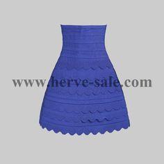 Herve Leger Blue Lotus Edges Sexy Bandage Skirts H009LSBL