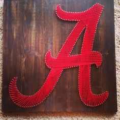 String Art Sports Logos Alabama Crimson Tide by ThingsStringed