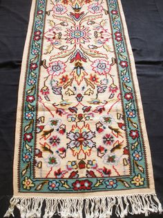 Antique Carpet Bilateral Sarkoy Bulgaria Rug Vintage Area 8.7 X 3 Kilim Floral #Floral
