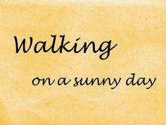 only music saves: Playlist : Walking on a sunny day [part 1].
