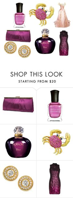 """""""PINK"""" by as52 on Polyvore featuring Gunne Sax By Jessica McClintock, Deborah Lippmann, Christian Dior, Tiffany & Co., Roberto Coin en French Connection"""