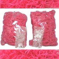 Hot Pink Rainbow Loom Rubber Bands 1200 pcs