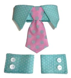 Dog Clothes SEWING PATTERN 1527 Shirt Collar Neckwear & Cuffs for the Little Dog $8.25