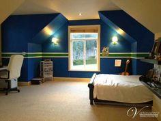 Kids bedroom.  Vancouver Canucks theme