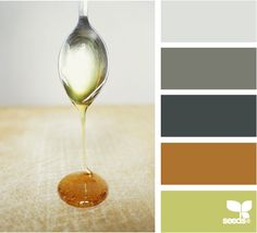 Gorgeous fall tones still neutral enough to use throughout a home. The warm honey tone warms up the cooler grey hues.