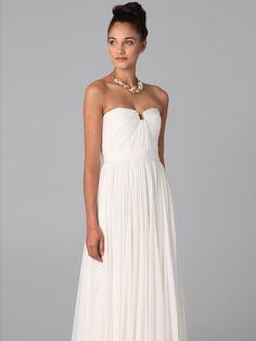 Robe longue de soiree blanche pas cher