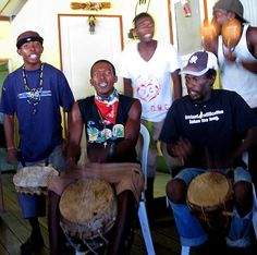 A traditional Garifuna band in Livingston, Guatemala - one of the drums is a tortoise shell! http://www.gypsynester.com/guatemala.htm