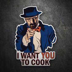 Pegatinas: Breaking Bad I want you #coche #pegatina #sticker