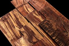 EXOTIC WOOD: CLARO WALNUT  (Juglans hindsi) is a unique Walnut species that grows right around the area where Cook Woods is located.  Combining beautiful violet and brownish black streaks and wild figured or burl eyes, Claro walnut is favored for high end veneer for cars, jets, turned articles, and exquisite jewelry boxes. Most of the supply originates in orchards as either production walnut trees or wind row trees to slow the wind and show property lines.  www.cookwoods.com