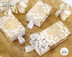 Une ravissante boite à dragées pour un mariage oriental. #cadeauxinvites #boitedrageeoriginale