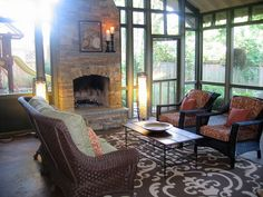 northeast mobile homes with screen porch and fireplace | screened porch in nashville, tennessee by cke interior design | Flickr ...