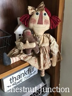 Your place to buy and sell all things handmade Country Christmas, All Things Christmas, Christmas Holidays, Handmade Crafts, Handmade Dolls, Raggedy Ann And Andy, Primitive Crafts, Doll Crafts, Wool Yarn